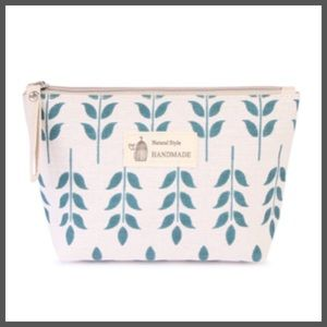 Handbags - JUST IN! Cosmetic Case Leaf Natural